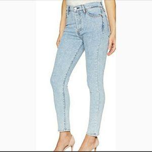Levi's high waist rise skinny stretch denim jeans